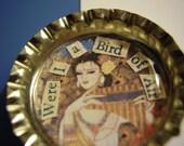 SALE - Bird of Air Bottlecap Magnet