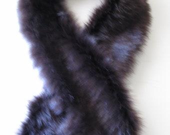 Faux Fur Boa Wrap Scarf  Purple