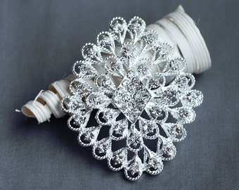 Rhinestone Brooch Crystal Brooch Bridal Brooch Bouquet Hair Comb Shoe Clip Wedding Cake Decoration Invitation DIY Supply BR145