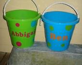 Personalized Easter Basket Bucket (orange, blue, or green)