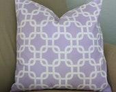 Lavender Geometric Pillow Cover