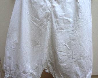 Victorian Cotton Bloomers / Original Estate Lingerie / Authentic Costume