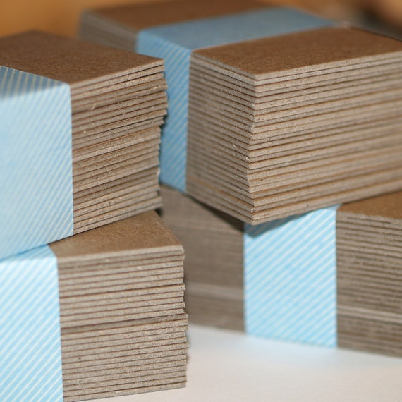 "100 Business Card Blanks ... Heavyweight Chipboard . Kraft . Recycled Cardstock . Seller Supplies . 2"" x 3.5"" . Thick Cards . Smooth Surface"