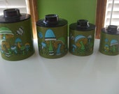 Mad About Mushrooms Metal Canister Set