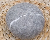wool felted rock 'living room pebble' in grey size small about 5,1 - 6,3 inch ( 13-16 cm )
