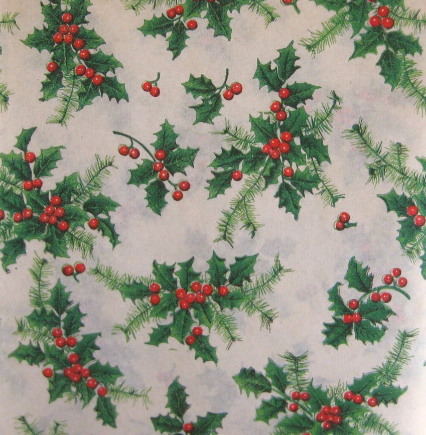 Vintage christmas wrapping paper holiday gift wrap