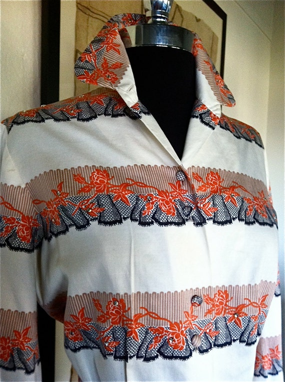 RESERVED For SUSIE Vintage 1950s Alex Coleman Blouse