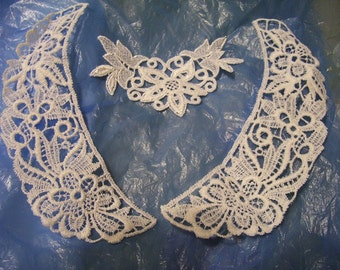Lace Collar and neckline lace White