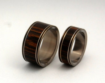 wedding rings, titanium rings, wood rings, men's ring, women's ring, unique wedding ring, engagement rings, commitment ring - BOOK OF LOVE