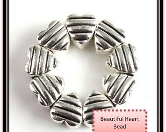 Beautiful HEART Bead ~ Fits European Style Bracelets
