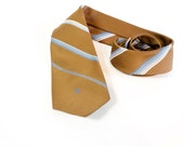 Vintage 1970s Brown Pierre Cardin Striped Skinny Necktie