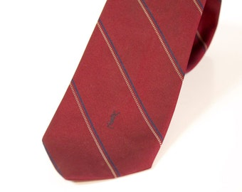 Vintage Burgundy Yves Saint Laurent necktie