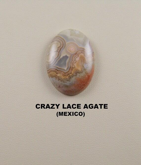 Crazy Lace Agate Designer Oval Cabochon.