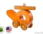 Wooden Toy Helicopter - Natural & Organic Wooden Toy Helicopter - Wood Toy Helicopter