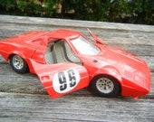 Vintage Lancia Stratos Red Die Cast Scala 1/24 Scale Model 96 Car Ferrari Red