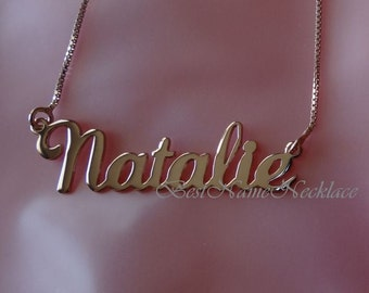 Rose Gold Plated Name Necklace, Rose Gold Personalized Name Necklace, Rose Gold Custom Name Necklace