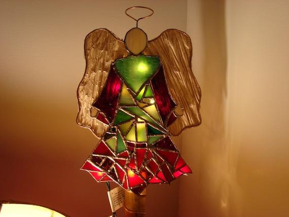 Mosaic Angel of Lights - Christmas tree topper
