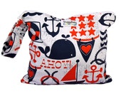 Wet Bag with Zipper and Waterproof Lining - Anchors Away - FAST SHIPPING