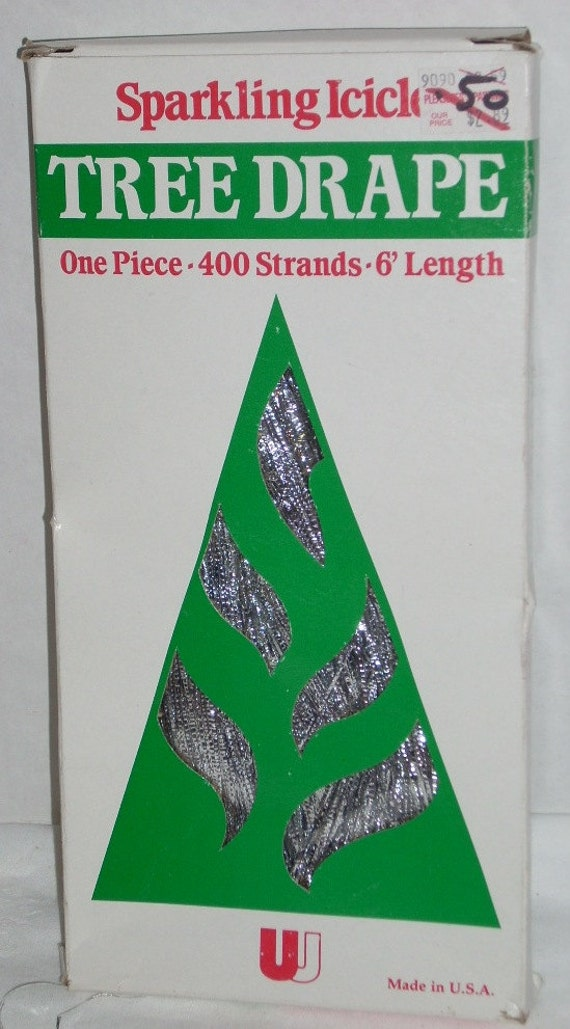 Vintage Christmas Tree Drape Decorations 6 Foot Strands