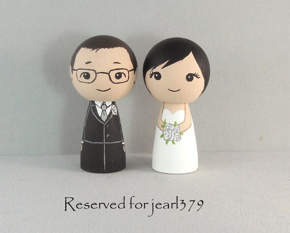 Reserved for jearl379   Sweet Couple Wedding Cake Toppers