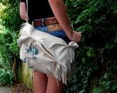 Custom order OOAk Beautiful Cream Cowhide Moana Bag for Kyla Rice