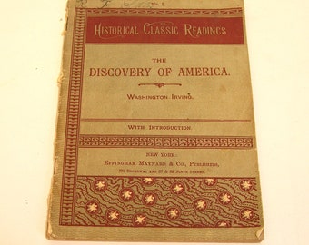 Historical Classic Readings The Discovery Of America Washington Irving