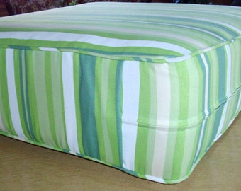 "Sofa or Patio Cushion Cover,Dimensions 20"" x 19"" x 4"",Your Fabric Selection,Includes Piping and Zipper.Made to Order.You Pay Shipping."