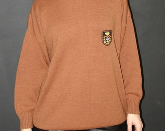Vintage Brown Unisex SWEATER, S.F.T.F., 1980s