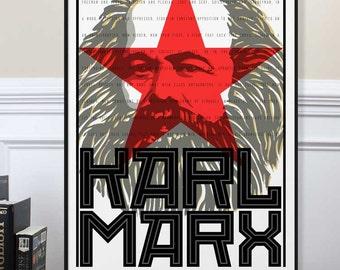 Karl marx | Etsy