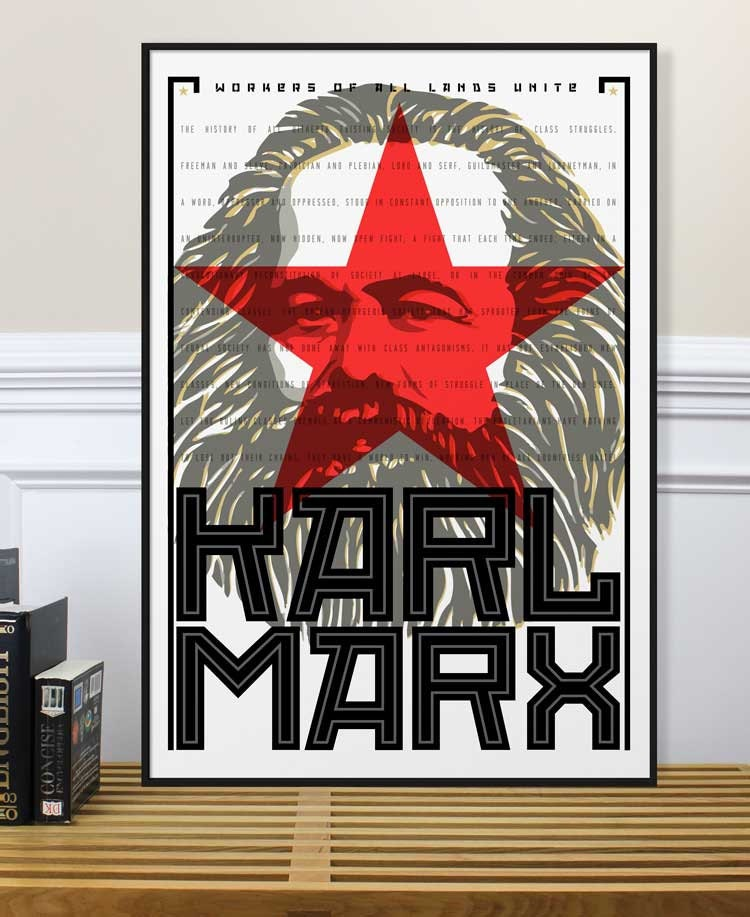 Karl Marx Poster Photography Inspirational Print