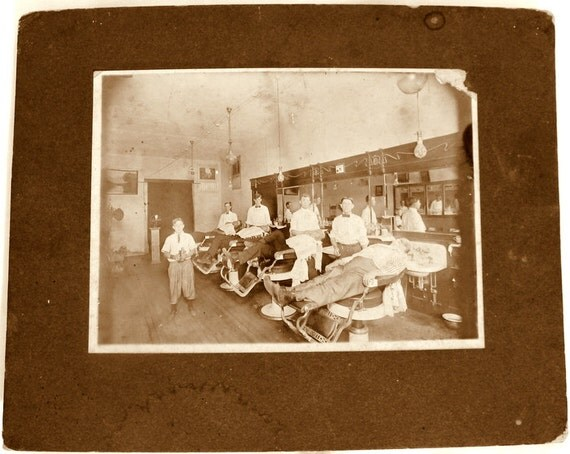 Barber Shop Aurora Il : Barber Shop Photo 19 teens 1916 Vintage Antique by kimvintage