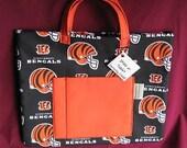 Ipad - Tablet - Book - Carrying Case Cincinnati BENGALS with Orange Handles, Pocket and Inside