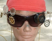 Steampunk Goggles Glasses  lenses loops cyber---RARE-  Marc Jacobs Sunglasses
