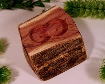 """Rustic Ring Bearer Wooden """"Pillow"""""""