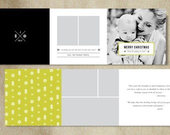 INSTANT DOWNLOAD! Christmas Card Templates for Photographers - Photoshop Template - Holiday Card Design - Photoshop PSD Templates
