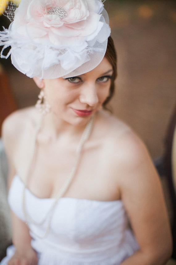 Couture Pink  Fascinator with Birdcage