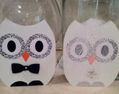 owl cake toppers wooden owls bride and groom owls wedding cake topper wedding cake decor unique cake toppers
