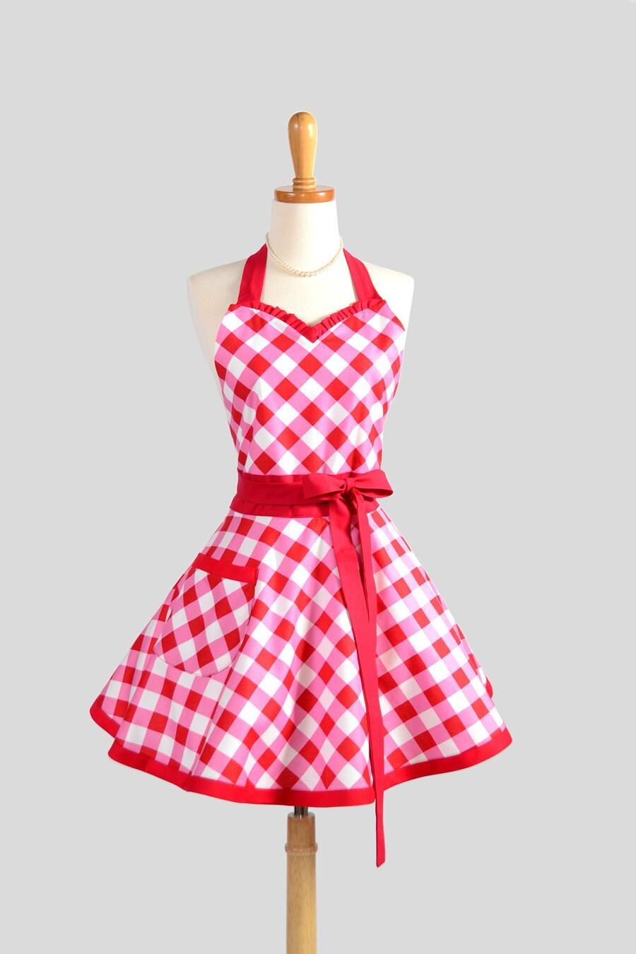 sweetheart retro apron cute kitchen full retro womens apron. Black Bedroom Furniture Sets. Home Design Ideas