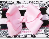 Baby Headband Toddler Headband - BIG Boutique BOW with Soft Stretch Interchangeable Nylon Headband-- Baby Toddler Girl--Photo Prop -