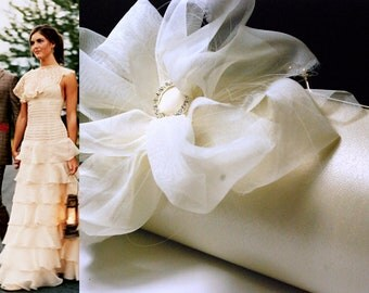 Bridal Accessory | Bridal Clutch | Custom Clutch | Ivory Shabby Chic Wedding Clutch | Rustic Wedding | Personalized Clutch | Gift Idea