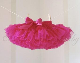 Pettiskirt DARK PINK FUCHSIA Demi by Cheeky Chic Baby