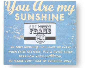 You Are My Sunshine- full lyrics- rustic wooden 5 x 7 frame