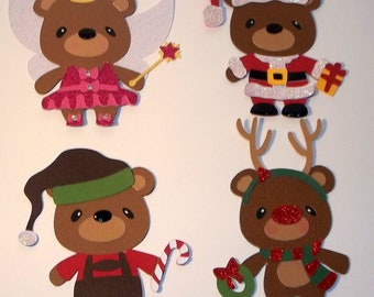 Christmas Bears embellishments die cuts scrapbooking