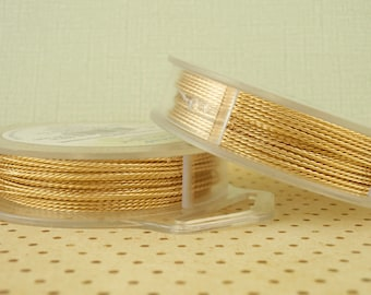 Non Tarnish Brass Artistic Wire – TWISTED ROUND – Permanently colored - You Pick Gauge 18, 20, 22, 24 – 100% Guarantee