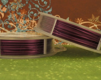 Purple Artistic Wire - Permanently Colored - You Pick Gauge 16, 18, 20, 22, 24, 26, 28, 30 – 100% Guarantee