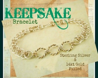 Petite Sweet Success Sterling Silver and 14kt Gold Filled - Chainmaille Bracelet Kit