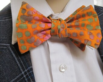 Orange Ombre Bow Tie
