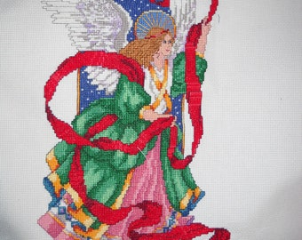 "Completed Cross Stitch ""The Herald Angel"""