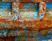 Rusty Boat Urban Decay Abstract Fine Art Photography 8x8 print