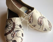 send me your shoes-all natural-Dream catchers - hand painted on TOMS shoes-made to order